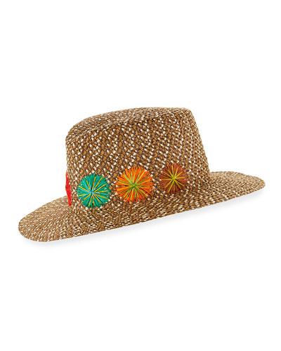 Zanzibar Packable Squishee Sun Fedora Hat, Brown
