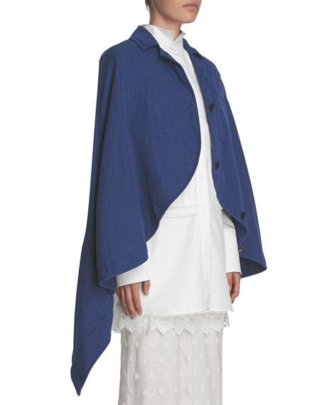 Workwear Button-Front Cape, Indigo