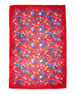 Elysian Paradise Floral Silk Scarf, Red
