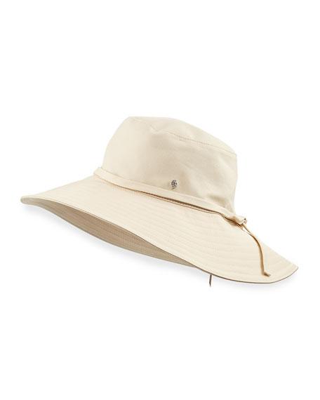dc8f648e260641 Helen Kaminski Breeja Cotton Canvas Sun Hat, Ivory
