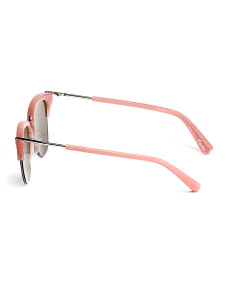 Burke Semi-Rimless Cat-Eye Sunglasses
