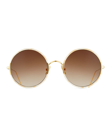 Yetti Round Laser-Cut Sunglasses