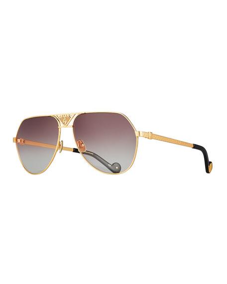 The Art Deco Aviator Sunglasses, 24k Gold Plate