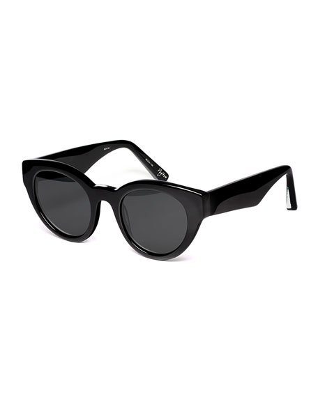 Image 1 of 1: Payton Chunky Cat-Eye Sunglasses