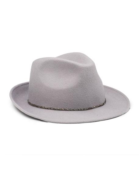Eugenia Kim Max Wool Felt Fedora Hat, Gray