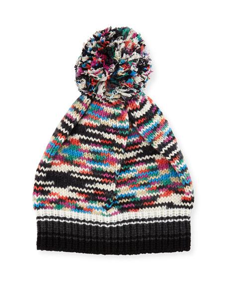 cc4e7bcd9e67f9 Missoni Space-Dye Knit Pompom Beanie Hat