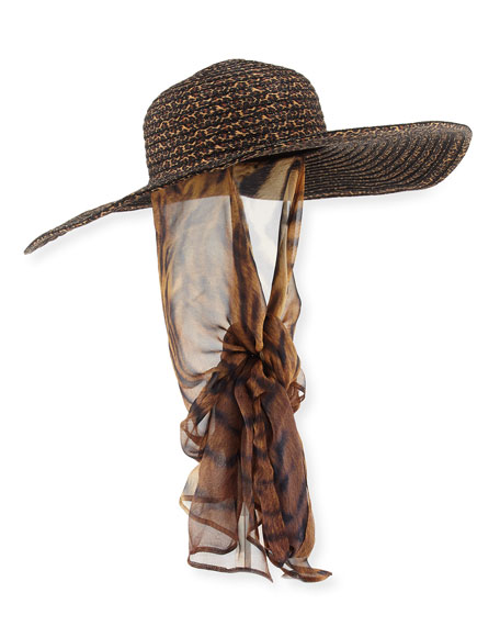 5057602e97281 Kokin Macassar Convertible Sun Hat with Chin Tie
