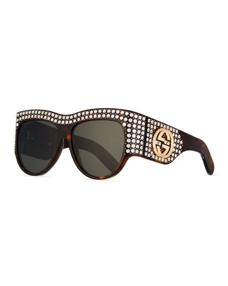 6ae7803e2a Gucci Chunky Swarovski® Wrap Sunglasses