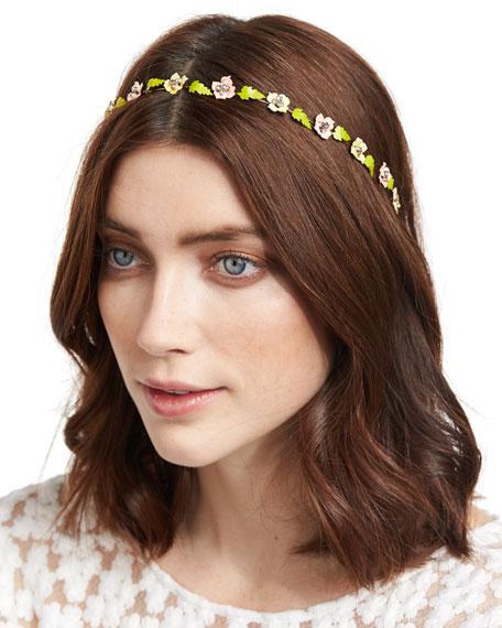 Madeline Painted Floral Bandeau Headband
