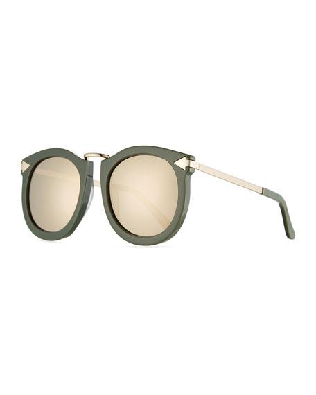 623cfbca476 Karen Walker Super Lunar Round Mirrored Sunglasses