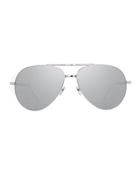 Foldable Aviator Sunglasses, White Gold