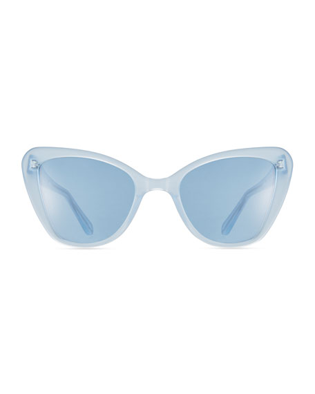 Venice Cat-Eye Sunglasses, Blue