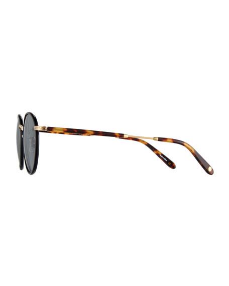 Wilson Round Filigree Sunglasses, Black