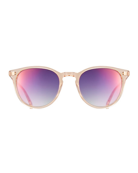 Milwood Transparent Square Sunglasses, Pink