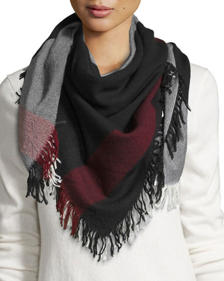 Burberry Wool Color Check Square Scarf 0049009d9d