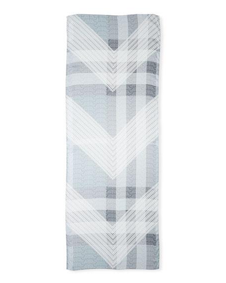 Ultra Wash Mega Check Silk Scarf