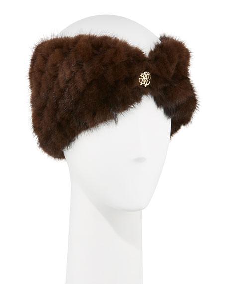 Roberto Cavalli Fur Jewel Headband