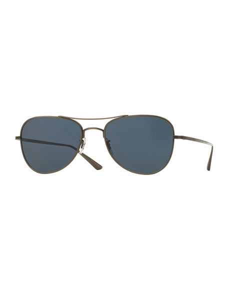 Oliver Peoples Executive Suite Photochromic Aviator Sunglasses