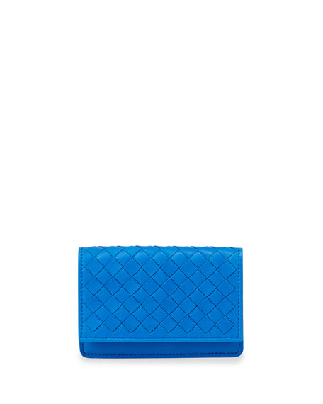Bottega Veneta 5/6 Credit Card Flip Case, Signal
