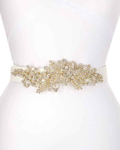 Deborah Drattell Venus Long-Jewel Belt, White