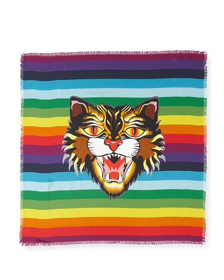 Crazy Tiger Foulard Square Scarf
