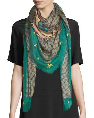 Emerald Eye Guccissima Shawl
