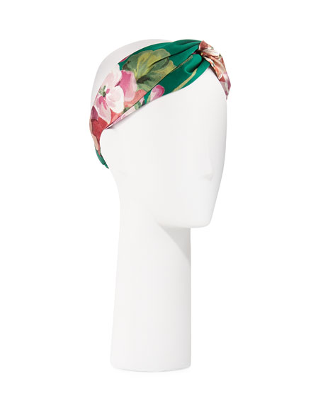 55cd8a10c62 Gucci Blooms-Print Silk Headband