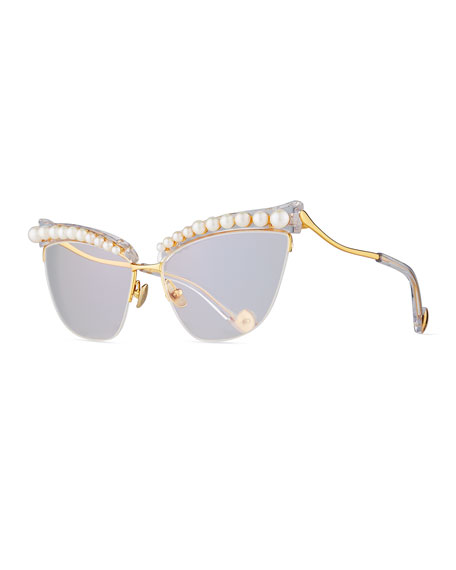 Divine Li'L Something Semi-Rimless Optical Frames, White