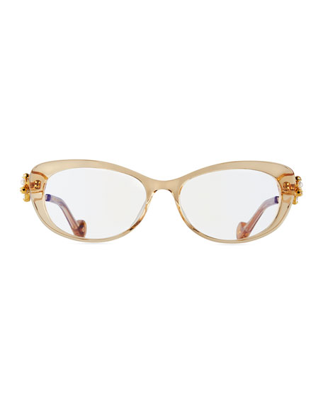 Dear Ling Ling Cat-Eye Optical Frames, Beige