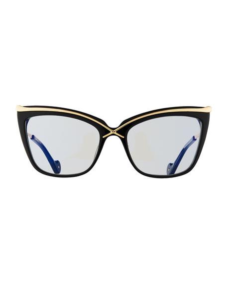 Lusciousness Divine Cat-Eye Optical Frames, Black