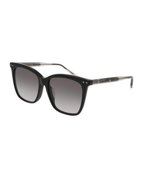 Square Gradient Transparent Sunglasses
