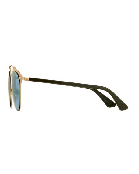 """Dior Reflected"" Two-Tone Aviator Sunglasses"