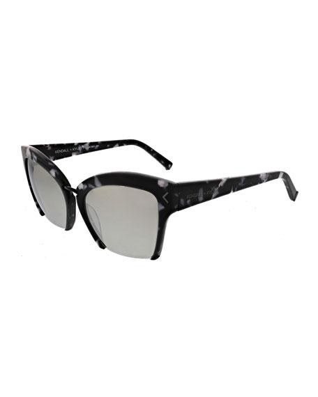 Brooke Cutoff Cat-Eye Sunglasses