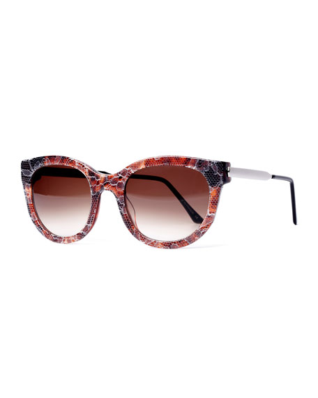 Thierry Lasry Lively LQ Cat-Eye Lace Sunglasses, Brown