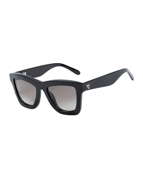 DB Square Gradient Sunglasses, Black