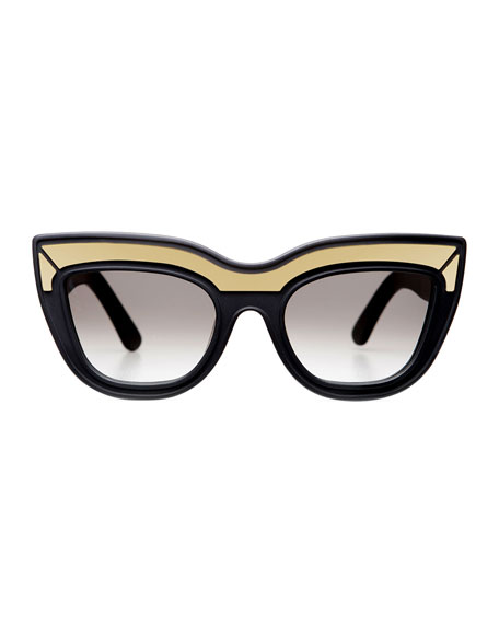 Marmont Limited Edition Cat-Eye Sunglasses, Black
