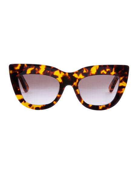 Marmont Cat-Eye Sunglasses, Brown Tortoise