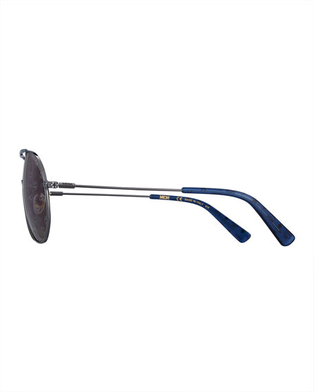Mirrored Visetos Logo Aviator Sunglasses