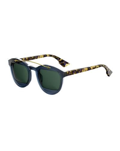 DiorMania1 Round Acetate Sunglasses