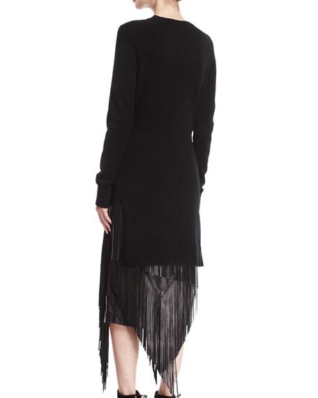 Cashmere Sweater Muffler, Black