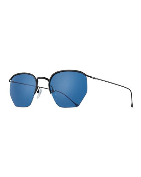 1cac89e23af Smoke X Mirrors Geo I 51Mm Semi Rimless Sunglasses - Matte Black  Blue