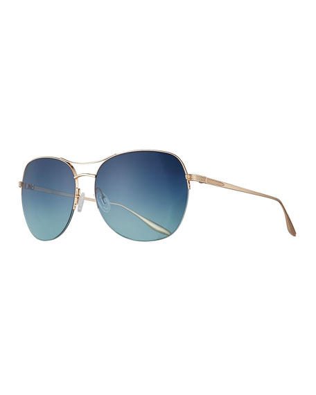 Barton Perreira Quimby Titanium Butterfly Sunglasses, Gold