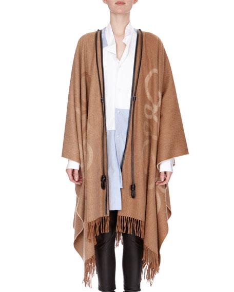 Wool-Blend Blanket Cape