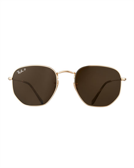 Polarized Hexagonal Metal Sunglasses