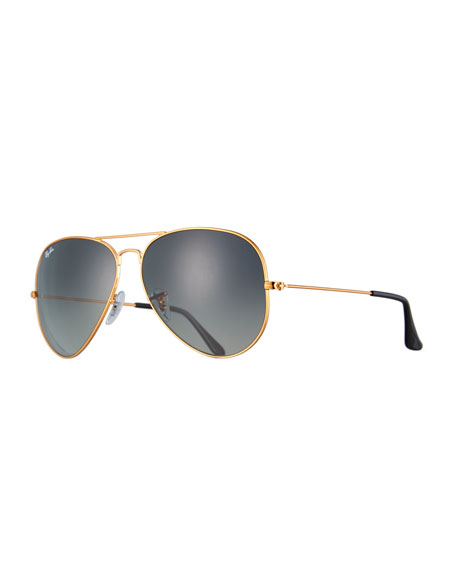 Ray-Ban Aviator Large Metal II Oversized Sunglasses, Brown/Gray