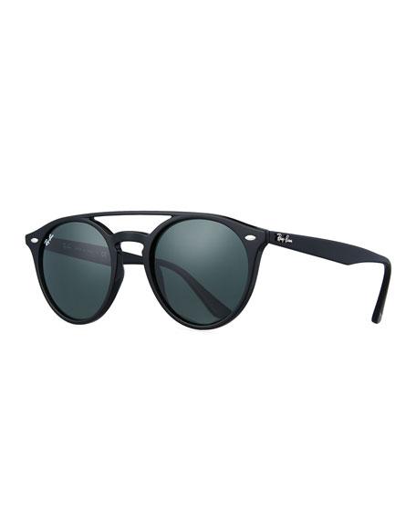 c40c70b4911 Ray-Ban Round Brow-Bar Sunglasses
