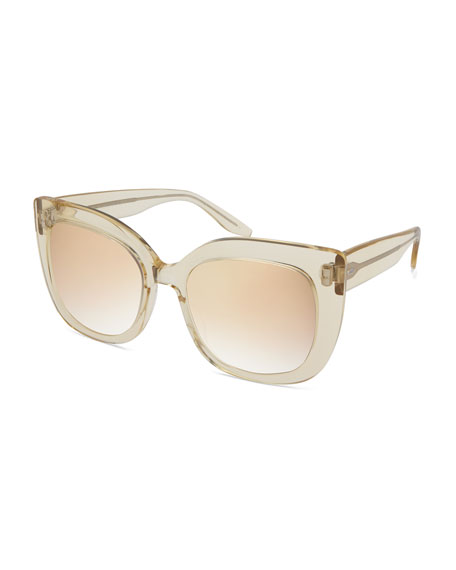 Barton Perreira Olina Chunky Mirrored Universal-Fit Cat-Eye