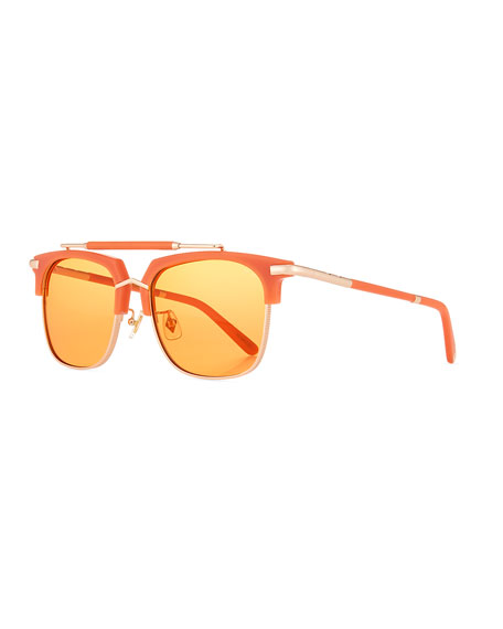 PARED EYEWEAR Cocktails & Dreams Square Sunglasses in White/Brown