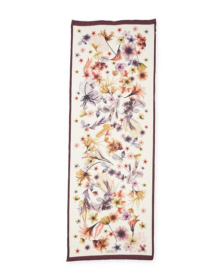 St. Opale Ras Floral Silk Scarf