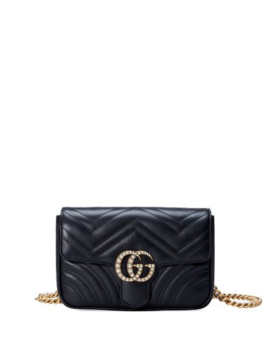 GG Marmont Matelassé Flap Belt Bag